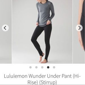 LULULEMON WUNDER UNDER STIRRUP PANT ! 🌟